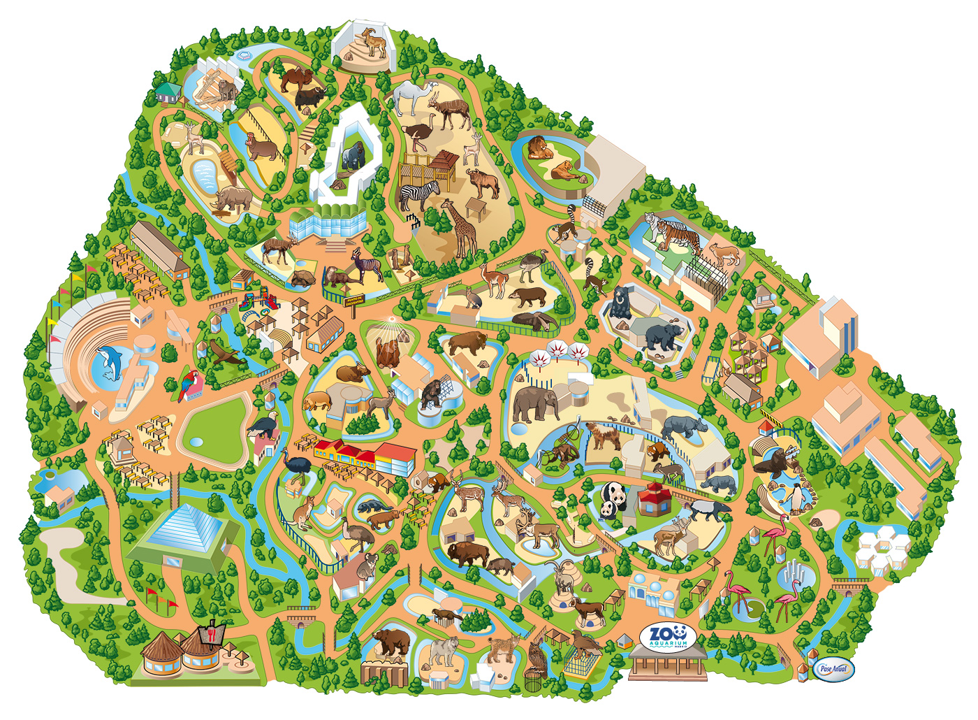 Mapa Zoo  Zoo Aquarium de Madrid